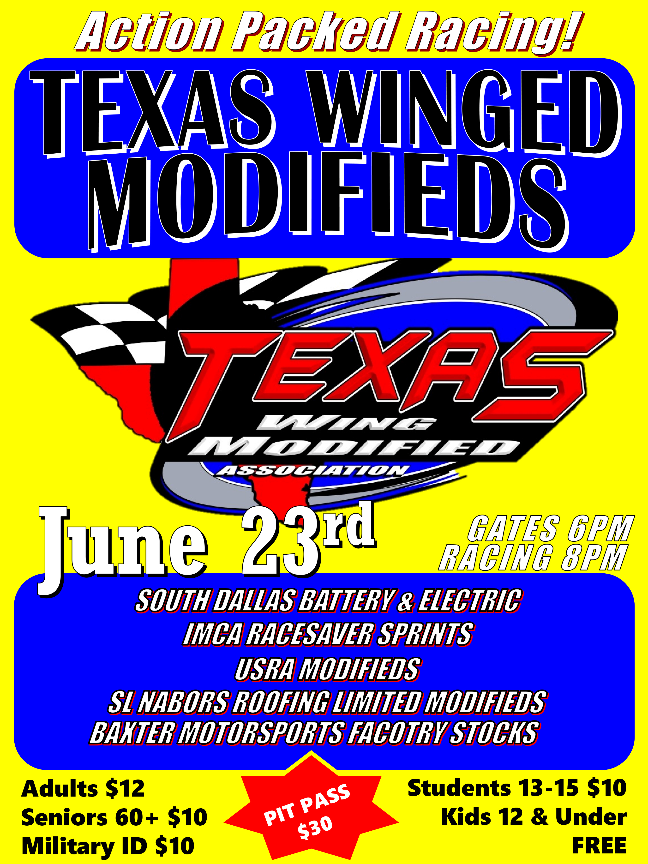 Tx Winged Modifieds June 23rd Devil S Bowl Speedway